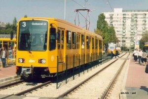 Hannoverből származó jármű a BKV 3-as villamosvonalán (forrás: Uherkovich Péter)