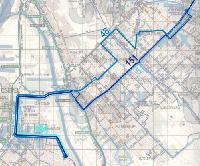 A 48-as–51-es autóbusz-vonalcsoport jelenleg.  (forrás: VEKE)