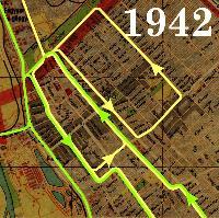 Vágányhálózat 1942-ben