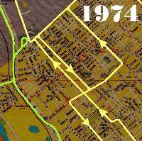 Vágányhálózat 1974-ben