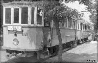 Villamos a Baross utcában az 1974-es megszüntetés előtt (forrás: Németh Zoltán Ádám gyűjteményéből)