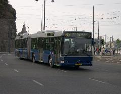A második adag Volvó is a metrópótláson debütált, majd onnan kerültek óbudai és cinkotai vonalakra., Gellért tér, Budapest (forrás: Istvánfi Péter)