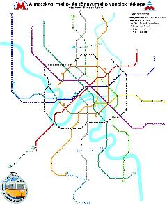 Az új metrókörgyűrű tervezett nyomvonala. Elsőnek az észak-nyugati szakasza kerül átadásra., Moszkva (forrás: Kovács Ádám)