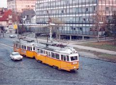 Kétkocsis UV szerelvény a Thököly úton., Thököly út, Budapest (forrás: VEKE)