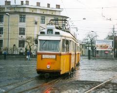 Az utolsó forgalmi kocsi áll be a zuglói kocsiszínbe., Bosnyák tér, Budapest (forrás: VEKE)