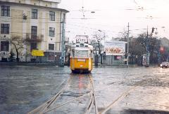Elment az utolsó 44-es...1995. december 24., Bosnyák tér, Budapest (forrás: VEKE)