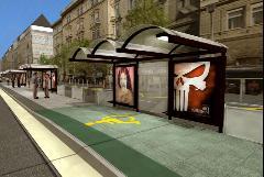 A Király utcai megálló régi látványterve. A peron végig meg lesz emelve. (forrás: BKV)
