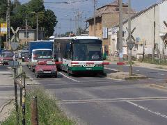 A Volánbusz Rt. járatai is várakozni kényszerülnek, Diósdi út, Érd (forrás: Friedl Ferenc)