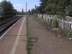 Elhanyagolt állapotú peron, Érdliget vasúti megállóhely, Érd (forrás: Friedl Ferenc)
