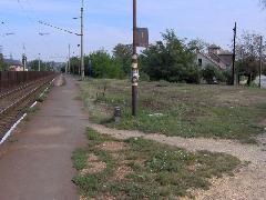 Egykoron állomásépület állt itt - P+R parkoló fog itt épülni, Érdliget vasúti megállóhely, Érd (forrás: Friedl Ferenc)