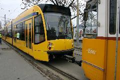 Vontatás alatt, úton a remizbe, az összekötővágányon., Hungária körút, Budapest (forrás: Istvánfi Péter)