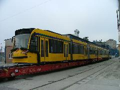 Indulásra kész az első budapesti Combino. (forrás: Siemens)