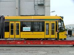 A villamos orr-része. Jól látható a modul közepén elhelyezkedő forgóváz., SGP gyár, Bécs (forrás: Siemens - Moldoványi Tibor)