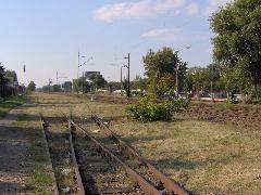 A leendő új vasúti megálló helyszíne Ferihegy 1 mellett, Budapest (forrás: Friedl Ferenc)