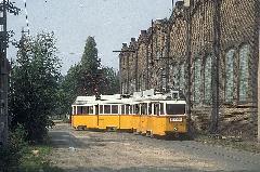 MUV szerelvény a 42-es villamos Tóth Árpád utcai hurokvégállomásán (forrás: Michael J. Russel)