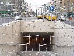 Az aluljárót soha nem adták át a gyalogosoknak, de máris átépítik., Bocskai út, Budapest (forrás: VEKE)