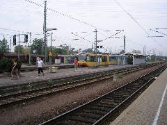 Villamos a vasútállomáson, Bahnhof, Wörth (forrás: Németh Attila)