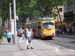 5-ös villamos, Marktplatz, Karlsruhe (forrás: Németh Attila)