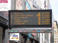 Sűrű a villamosforgalom, Karlsruhe (forrás: Németh Attila)