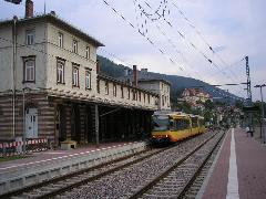 S6-os villamos Bad Wildbad állomáson, Bahnhof, Bad Wildbad (forrás: Németh Attila)