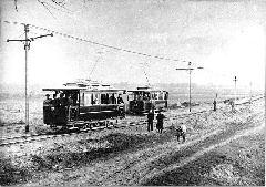 A villamosított Salgótarjáni utcai szakasz, Salgótarjáni út, Budapest (forrás: A főváros tömegközlekedésének másfél évszázada)