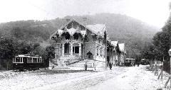 A régi végállomás a villamosítás után nem sokkal, Zugliget, Budapest (forrás: A főváros tömegközlekedésének másfél évszázada)