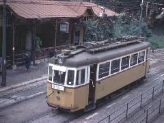 Az 1051-es kocsi a Zugligeti végállomáson, 1976 őszén, Zugliget, Budapest (forrás: Heinz Heider)