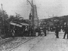 A nevezetes Virányos út mellett történt baleset, 1900. június 4., Virányos út, Budapest (forrás: VEKE)
