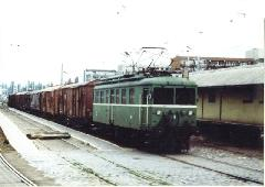 """""""Tigris"""" mozdony tehervonattal Pesterzsébet Felső állomáson, Pesterzsébet Felső, Budapest (forrás: NZA gyűjteménye)"""