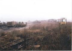 A BKV szigetcsépi bontótelepe, sok selejtezett járművet vágtak szét itt, Szigetcsép (forrás: Lakos Rudolf)