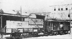 BHÉV M VII típusú mozdony CSD teherkocsival a II. világháború előtti években (forrás: A főváros tömegközlekedésének másfél évszázada)