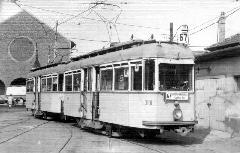 ...illetve a zuglói kocsiszín udvarán. (forrás: Főváros Tömegközlekedésének másfél évszázada)