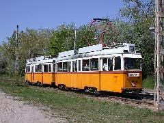 A takarítás után a villamos különjáratként közlekedett a közgyűlés helyszínére, a Baross kocsiszínbe. Útközben egy kis fotómegállást tartottunk a Terebesi utcánál..., Fehér út  - Terebesi utca, Budapest (forrás: Halász Péter)