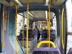 A Citadis belső tere, Dublin (forrás: www.railfaneurope.net)