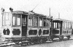 Pótkocsis BURV-szerelvény. (forrás: A főváros tömegközlekedésének másfél évszázada)