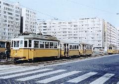 A nagy forgalom miatt az 55-ösön is két pótkocsis szerelvények jártak. (forrás: Lakos Rudolf)