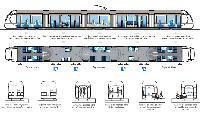 A Nizza számára tervezett CITADIS beltere. (forrás: http://www.tramway-nice.org/)