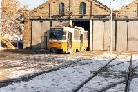 A 4073-as Tatra kiállásra készen az 1-es vonalra.