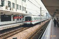 Shanghai 1-es metróvonalán közlekedő szerelvény. (forrás: Allen Zagel (www.azagel.com))