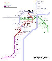 A jelenlegi Shanghai-i metróhálózat. (forrás: http://www.urbanrail.net)