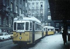 Az 1624-es kocsi a Kádár utcai hurokvégállomáson. (forrás: Lakos Rudolf)