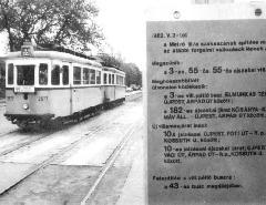 Ekkor már csak pár nap volt hátra az 55-ös villamos történetéből... (forrás: MTI fotó)