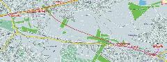 A kettes metró javasolt rákoskeresztúri ágának egy lehetséges nyomvonala (piros a felszíni, lila a felszín alatti szakasz)., Budapest (forrás: VEKE)