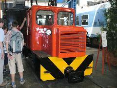 A frissen felújított C50-es kisvasúti mozdony is sok érdeklődőt vonzott, Északi Járműjavító, Budapest (forrás: Friedl Ferenc)