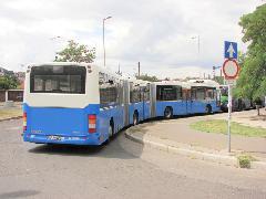 Hátulról, a 7-es viszonylat déli végállomásán Albertfalva, Forgalmi utcánál. (forrás: Tóth Gábor)