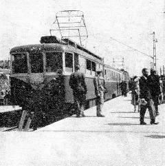A Csepeli gyorsvasút megnyitása 1951-ben. (forrás: Németh Zoltán Ádám gyűjteménye)