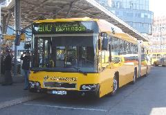 Az új Volvo-buszok már a viszonylatszám kijelzésére alkalmas kijelzővel lettek megrendelve., Árpád híd, Budapest (forrás: Nehéz Balázs)