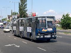BPO-879 a Szentenderi úton, a 106-os viszonylaton. (forrás: Istvánfi Péter)