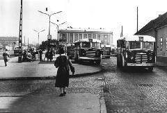 A Miklós utcai buszvégállomás, 6/A-ra táblázott Tr 3,5-össel. (forrás: VEKE)
