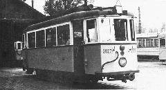 BVVV eredetű acélvázasított motorkocsi. (forrás: A főváros tömegközlekedésének másfél évszázada)